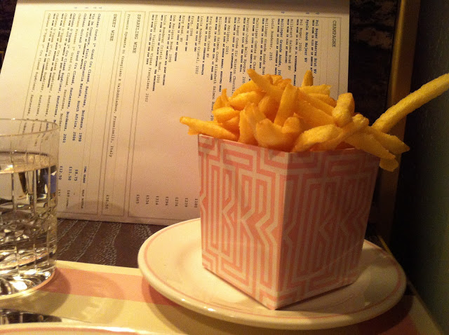 Skinny chips, Bob Bob Ricard, Soho, Archer Street, Birthday Dinner London, restaurant review Bob Bob Ricard, Girls night out London, Where to eat London, Champagne, Press for Champagne